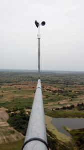 Anemometer in meteorological Mast in Ghana