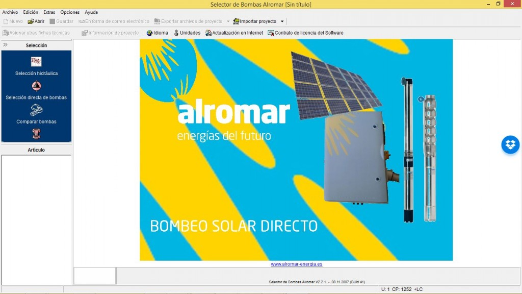 Software bombeo solar